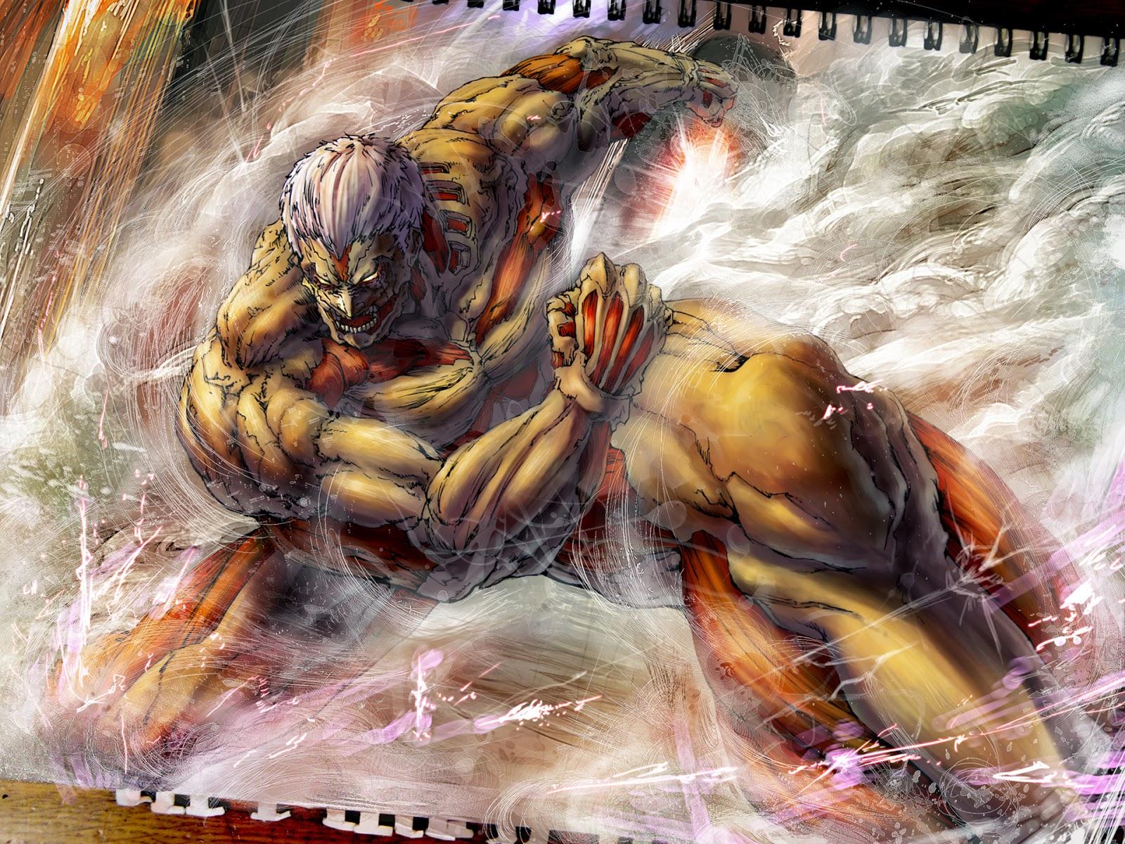 Armored titan gif