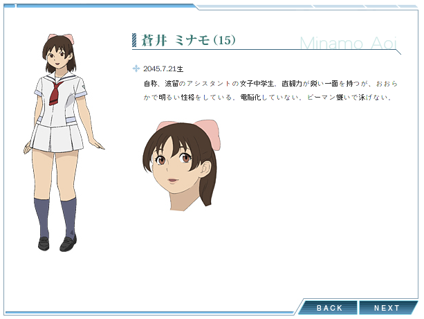 Anime Characters Chubby Reader : Minamo aoi from real drive