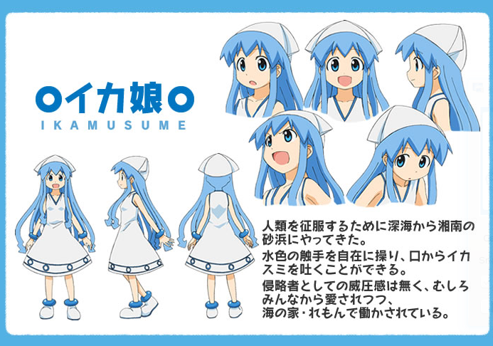 anime character database blue hair