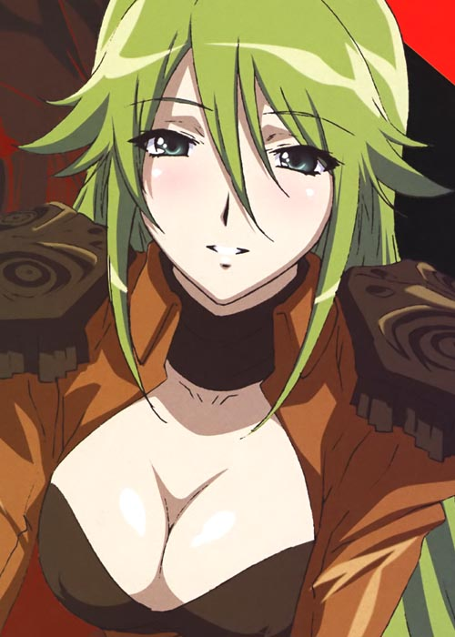 Anime Characters Green : Female anime character with green hair animeride