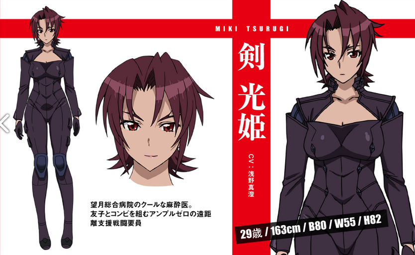 Triage Anime Characters : Miki tsurugi from triage x