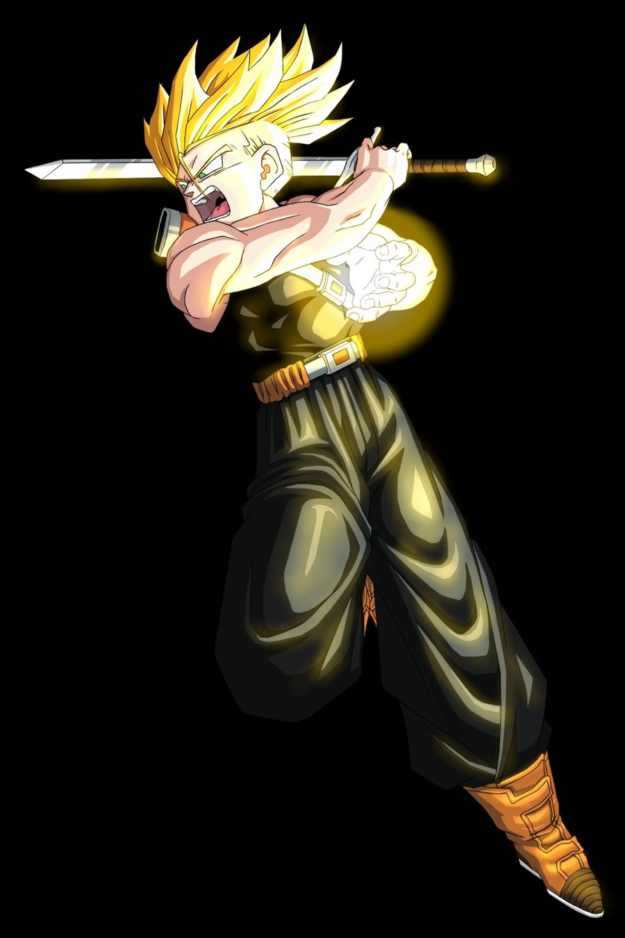 Super Saiyan Future Trunks From Dragon Ball Z