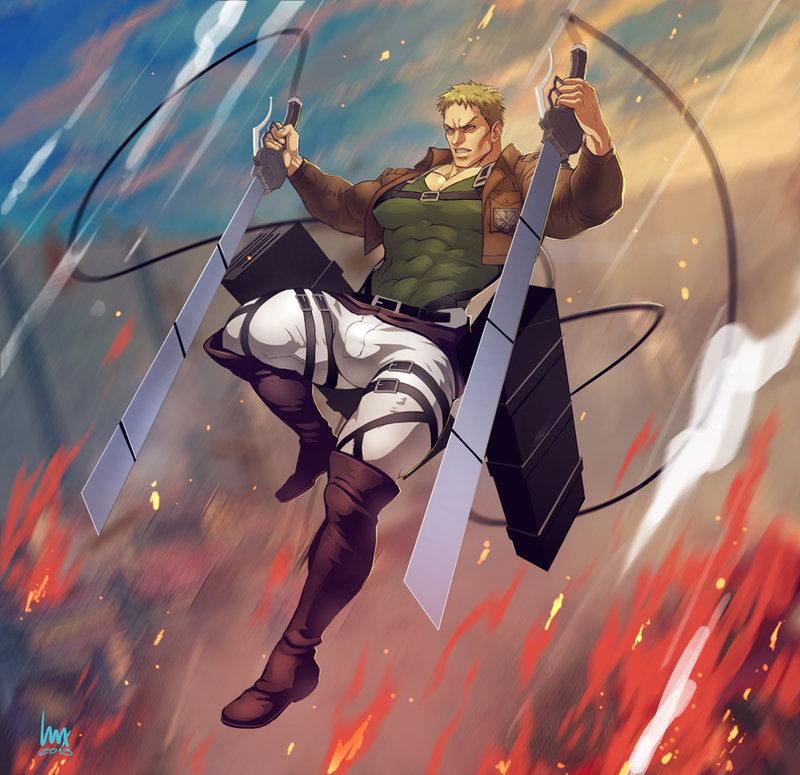 Reiner Braun From Attack On Titan Series