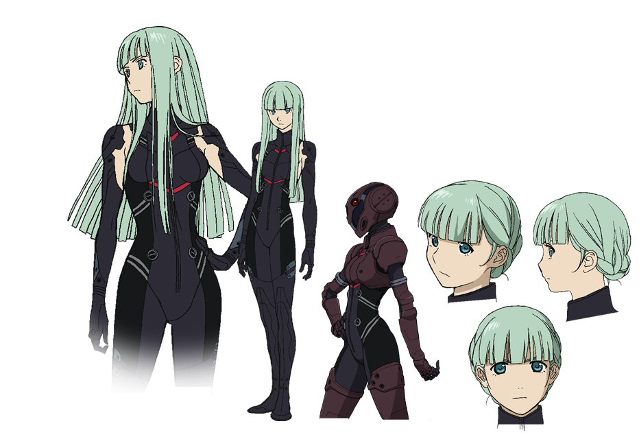 Anime Character Quon : Cyborg delta from towa no quon chapter fleeting petals